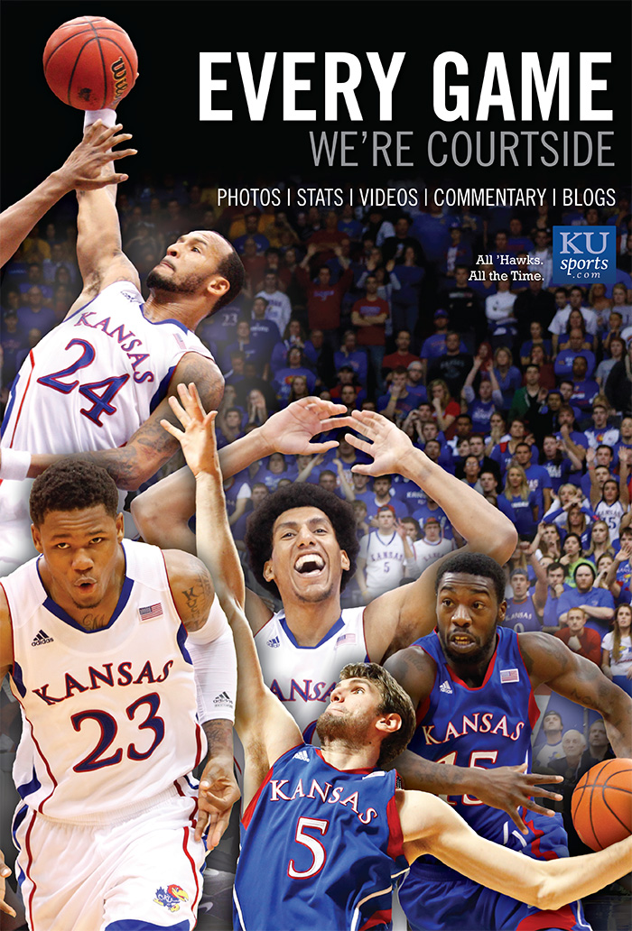 KUsports.com Winter ad featuring KU mens basketball starters